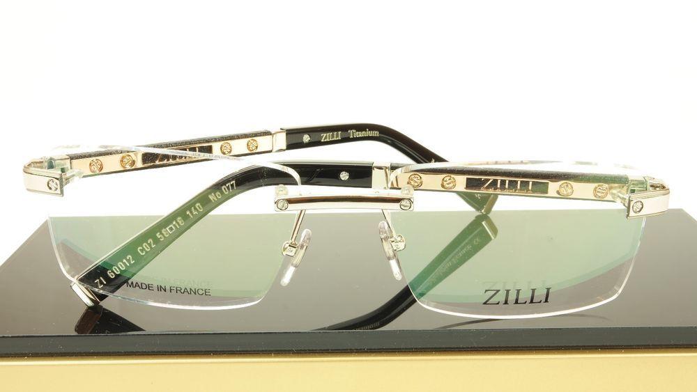 9ff060704ed ZILLI Eyeglasses Frame Acetate Leather Titanium France Hand Made ZI 60012  C02  ZILLI