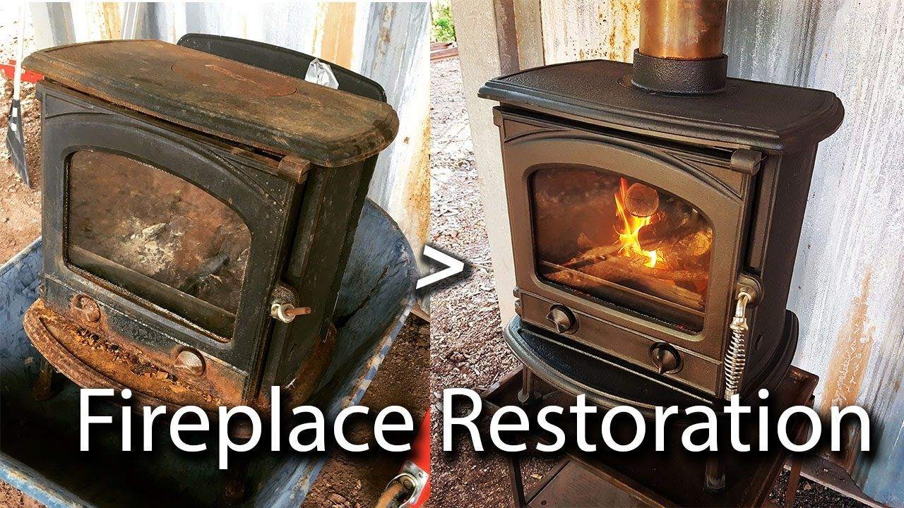 Off Grid Build Fixing Up A Rusted Out Cast Iron Wood Stove Wood Stove Cast Iron Fireplace Wood Burning Fireplace Inserts