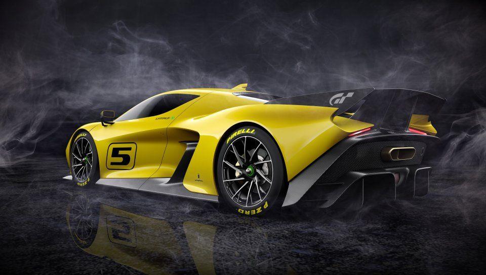 Fittipaldi Ef7 Vision Gran Turismo Sports Car Yellow Limited