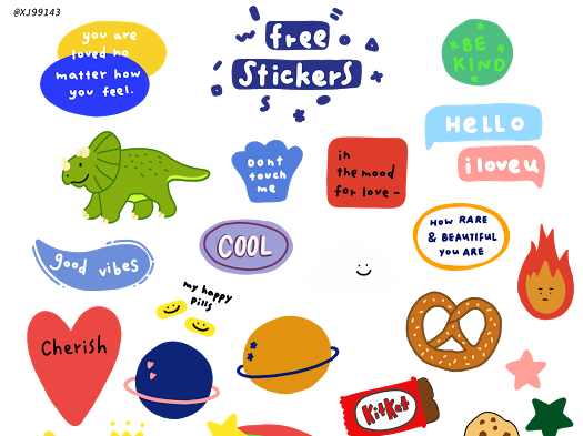 doodle stickers ♡ Google Drive in 2020 Sticker