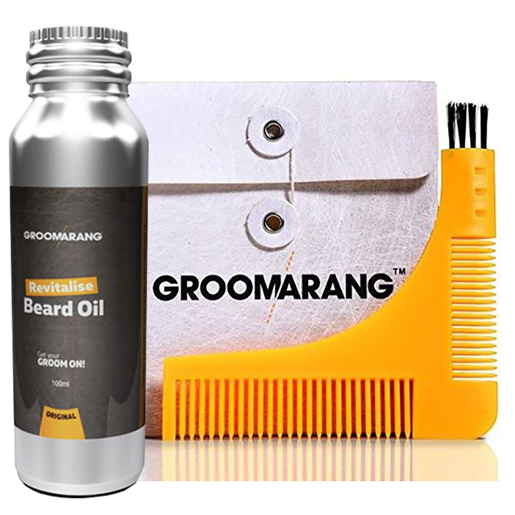 Groomarang Beard Comb & Beard Oil gift set, now available