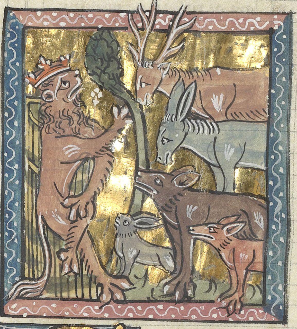 Le Roman De Renart 1310 1315 Bnf Francais 1580 F 114v Roman De Renart Roman Pretresse