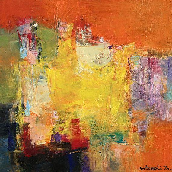 Small Box Painting 1115 - Original Oil Painting - 22.7 cm x 22.7 cm (app. 8.9 inch x 8.9 inch)