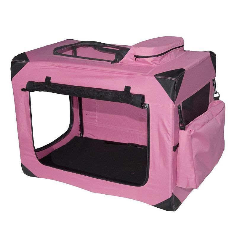 Pet Gear Generation II Deluxe 27 1/2-in. Portable Soft Crate, Pink