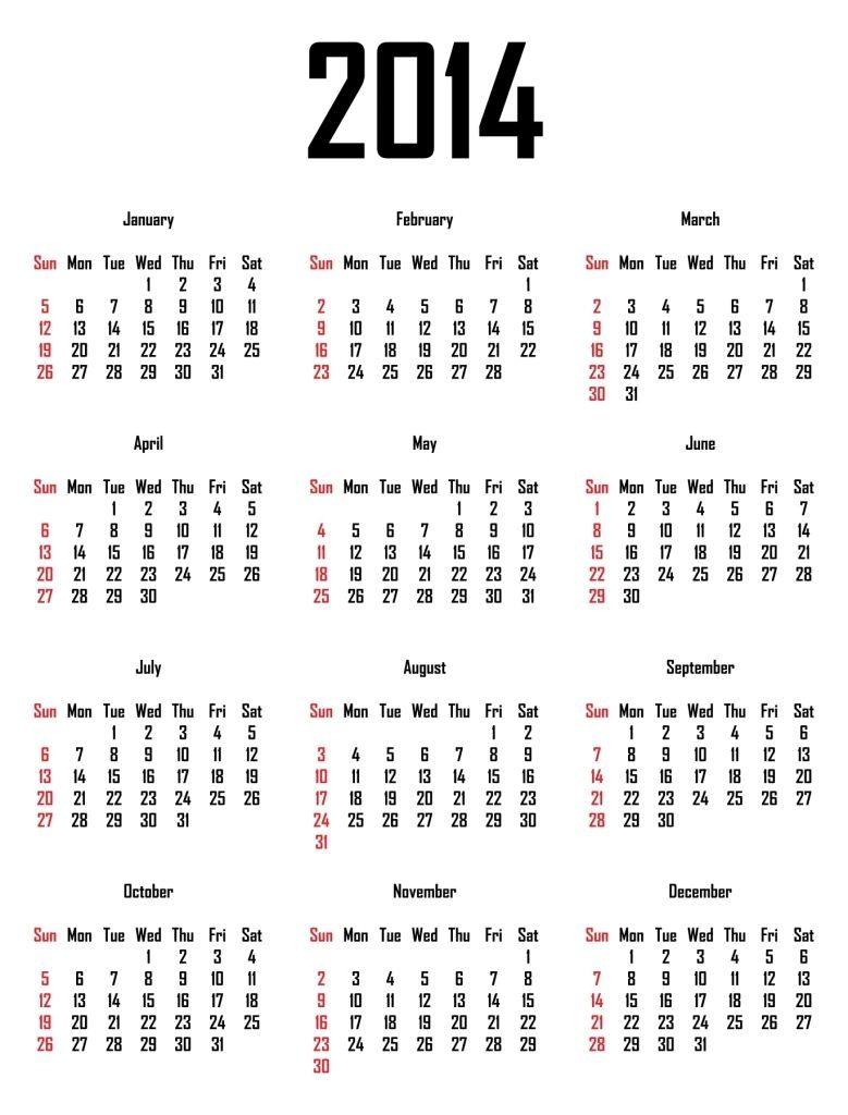 10 Year Calendar Harvard In 2020 2014 Calendar Printable Free Calendar Print Calendar