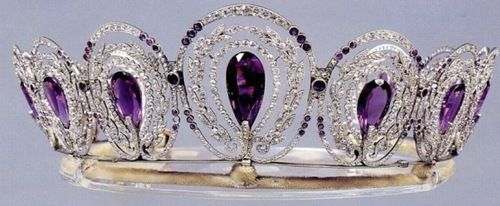 Known as the Mystery Amethyst Tiara of Queen Alexandra because its providence is…