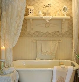 une salle de bain shabby chic salle de bain pinterest salles de bains shabby chic shabby. Black Bedroom Furniture Sets. Home Design Ideas