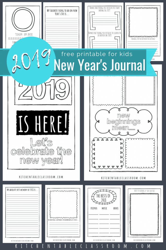 welcome 2019 with these free new years coloring pages and journal prompts record remember and predict