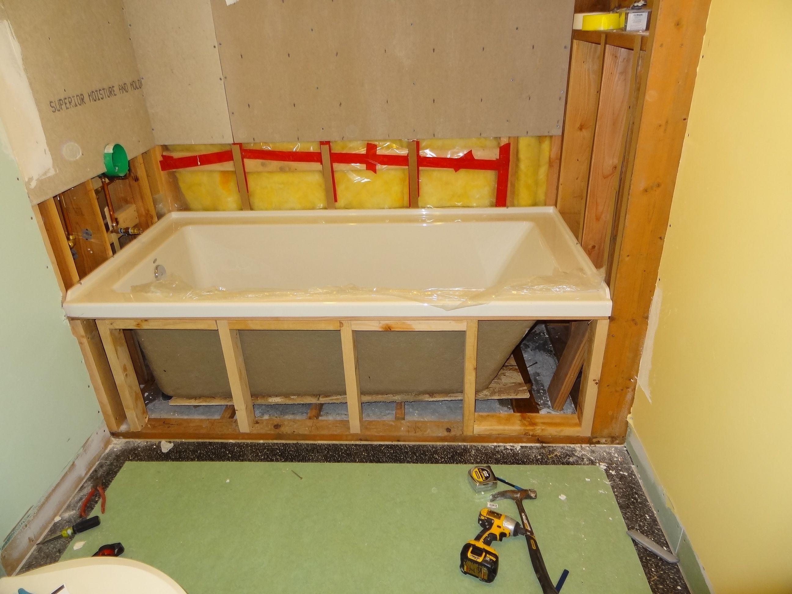 Frame In Alcove Bathtub