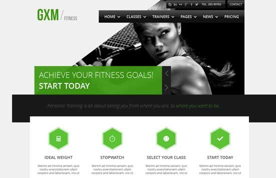 Free U0026 Premium Fitness Website Templates Are Designed Mainly For Fitness  And Gym Sport Club Website. It Can Also Be Used For Any Other Type Of  Website, ...  Fitness Templates Free