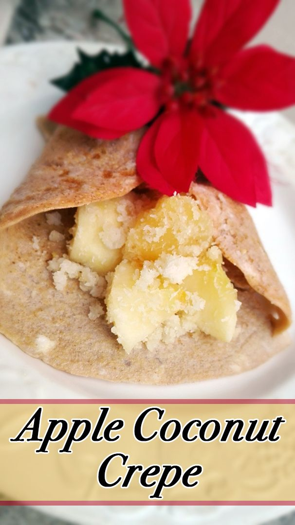 An exotic splash of flavor to explode in your mouth...Isn't it appealing. That's what this apple coconut crepe's delicious combo will bring you!