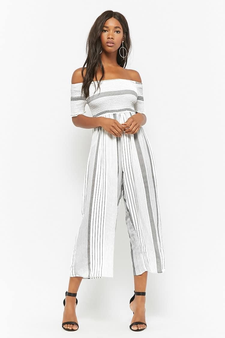 Striped Wide-Leg Jumpsuit // 35.00 USD // Forever 21
