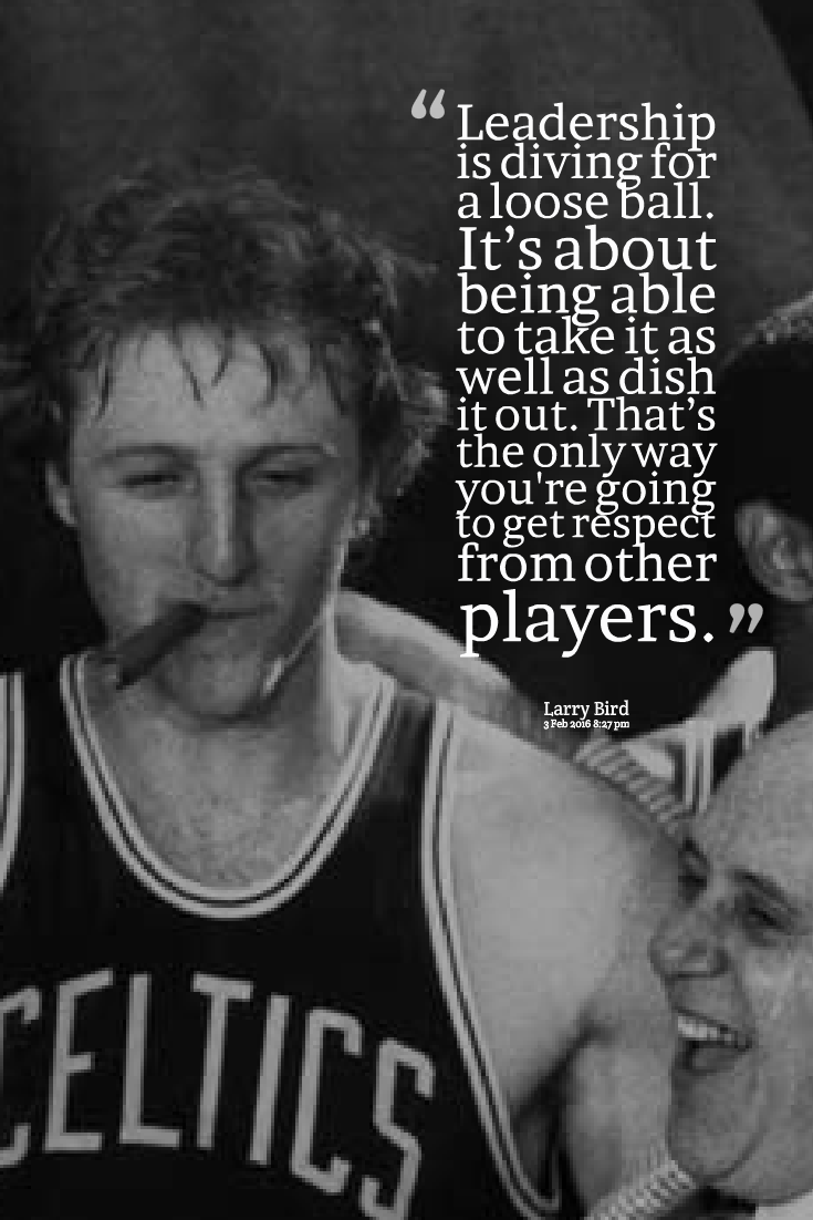new arrival ee106 2609f Leadership - Larry Bird Basketball Quotes | Future Craft ...