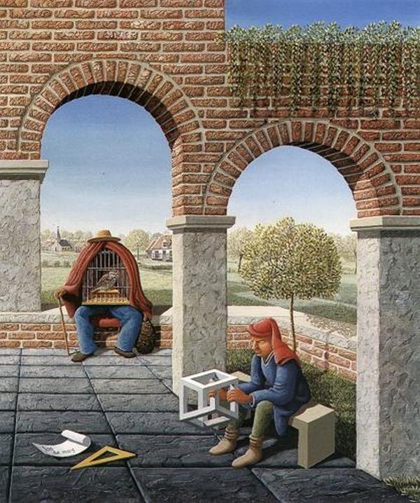 Jos De Mey Perspective Illusion by Jos de Mey Illusions Perspective and Oil