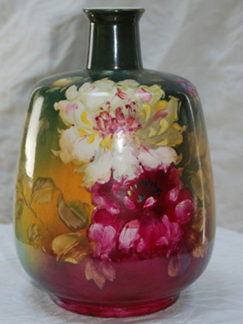 Royal Bonn Vase Franz A. Mehlem Hand Painted German Vase
