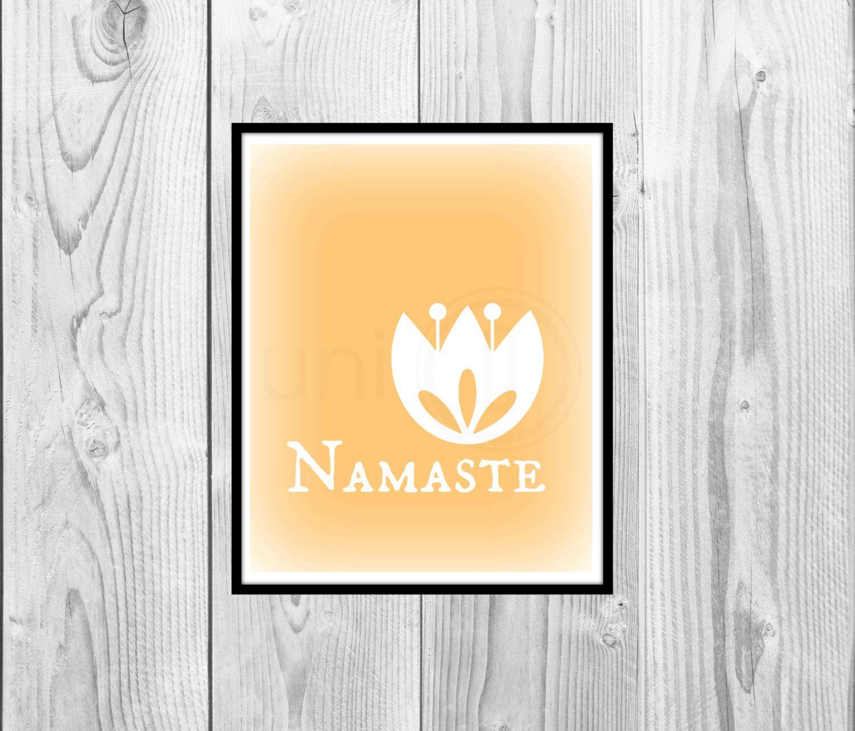 Zen poster design - Peach Namaste Zen Poster Graphic Design Art Digital Wall Art 8x10 Print Instant Download