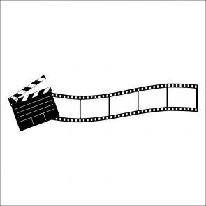 Film Strip With Clapper Silhouette Svg Cricut Cricutexplore