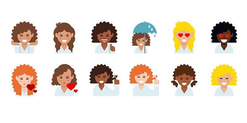 Curly Hair Emoji Are Finally Here And They Look Adorable