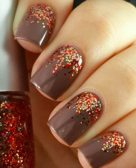 Easy Fall Nail Decoration: Valentine`s Day Nail Design
