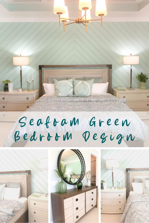 Seafoam Green Airy Bedroom Design Beach Houses  Seafoam green