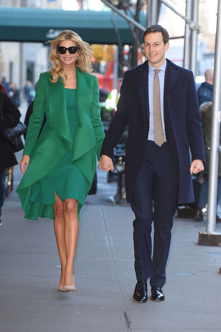 Ivanka trump wears glam green outfit by oscar de la renta for ivanka trump wears glam green outfit by oscar de la renta for moving day to washington dc ombrellifo Gallery