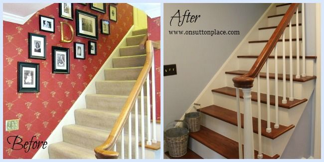 Entry Before and After ~ On Sutton Place best way to update a home immediately!!!!