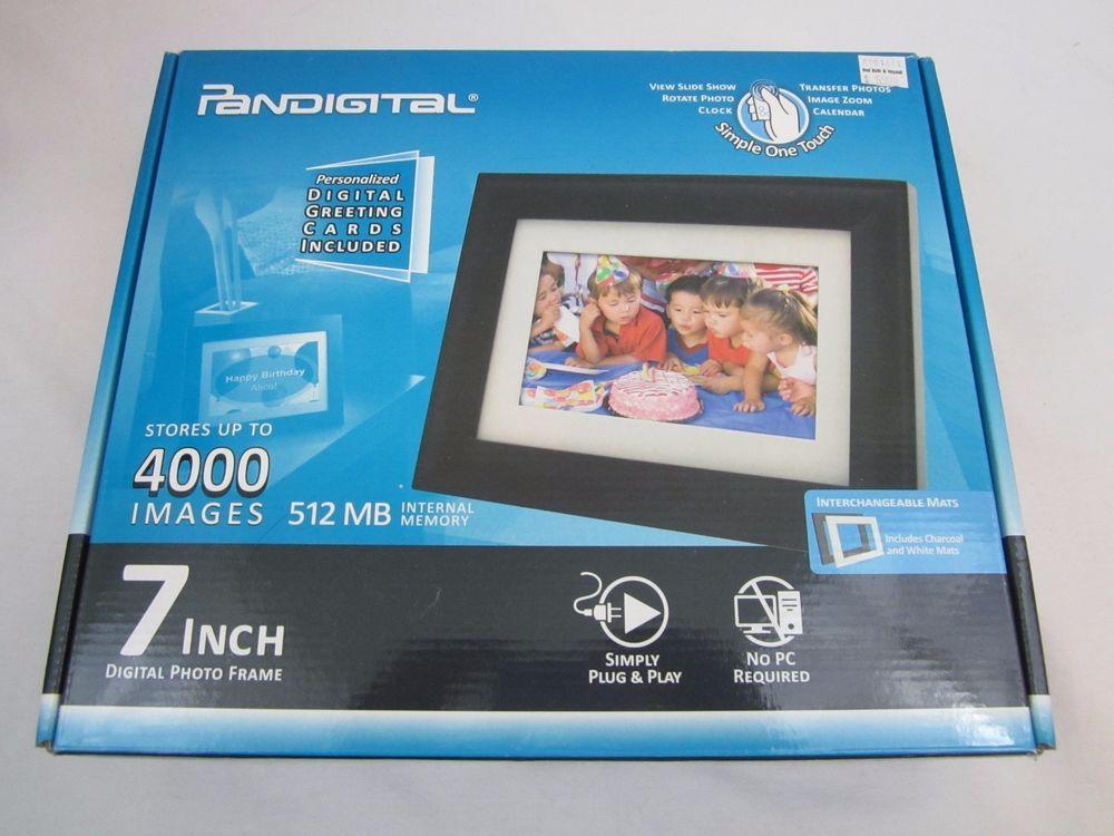 7 Inch Digital Photo Picture Frame Pandigital Lcd Screen Black