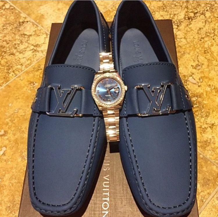 Louis Vuitton Blue Loafers Louis Vuitton Loafers Shoes Mens