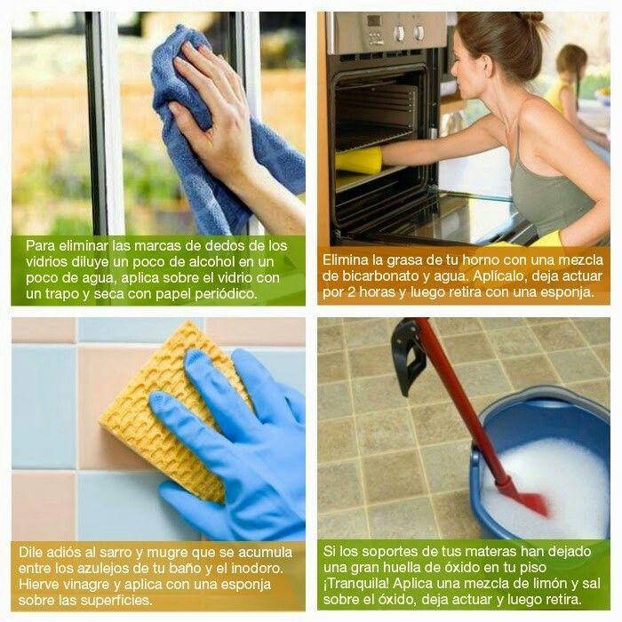 Trucos para limpieza de la casa mi casa pinterest clean house and housekeeping - Trucos limpieza hogar ...