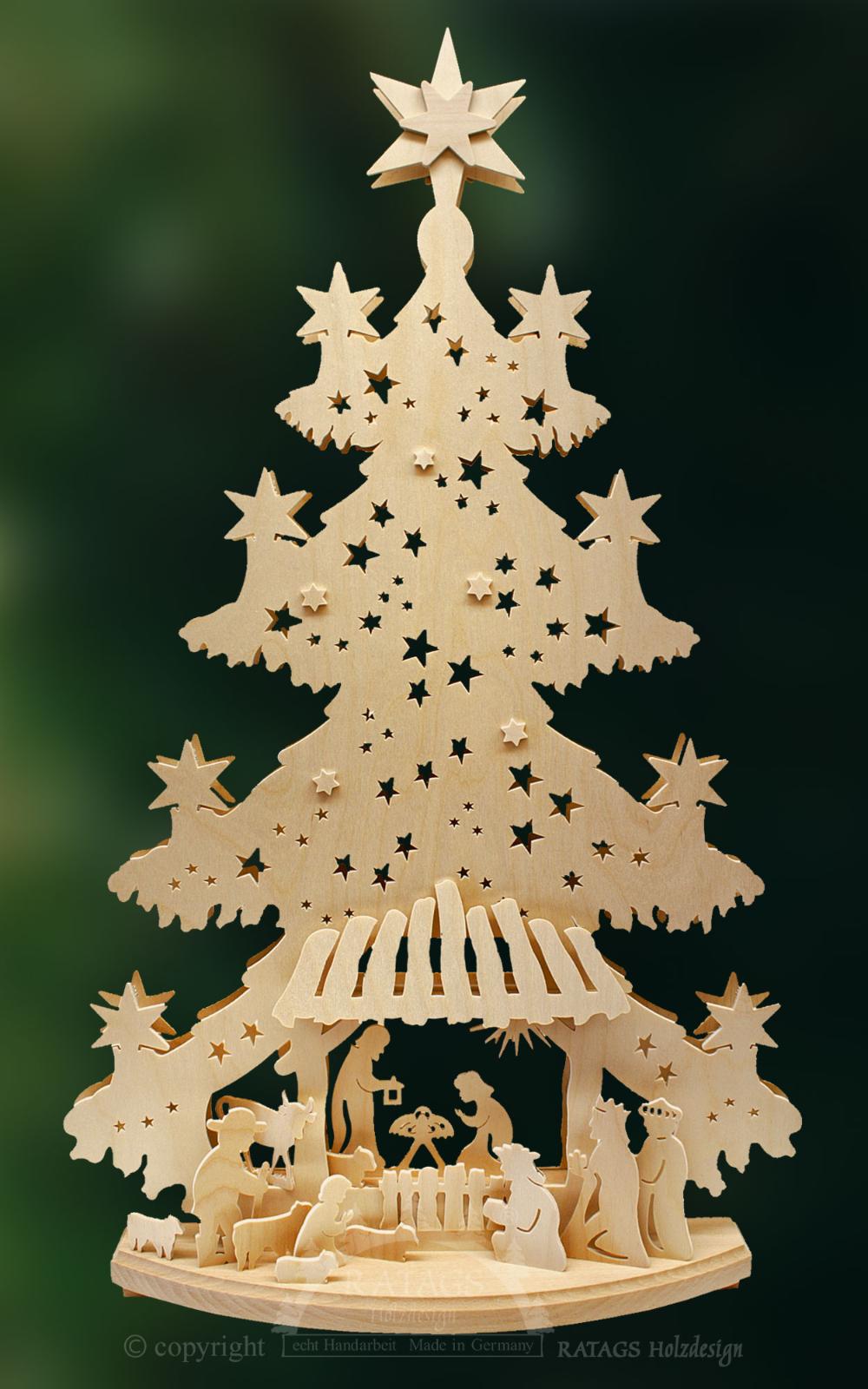 Tanne Gr Christuskind Holzkunst Weihnachtsartikel
