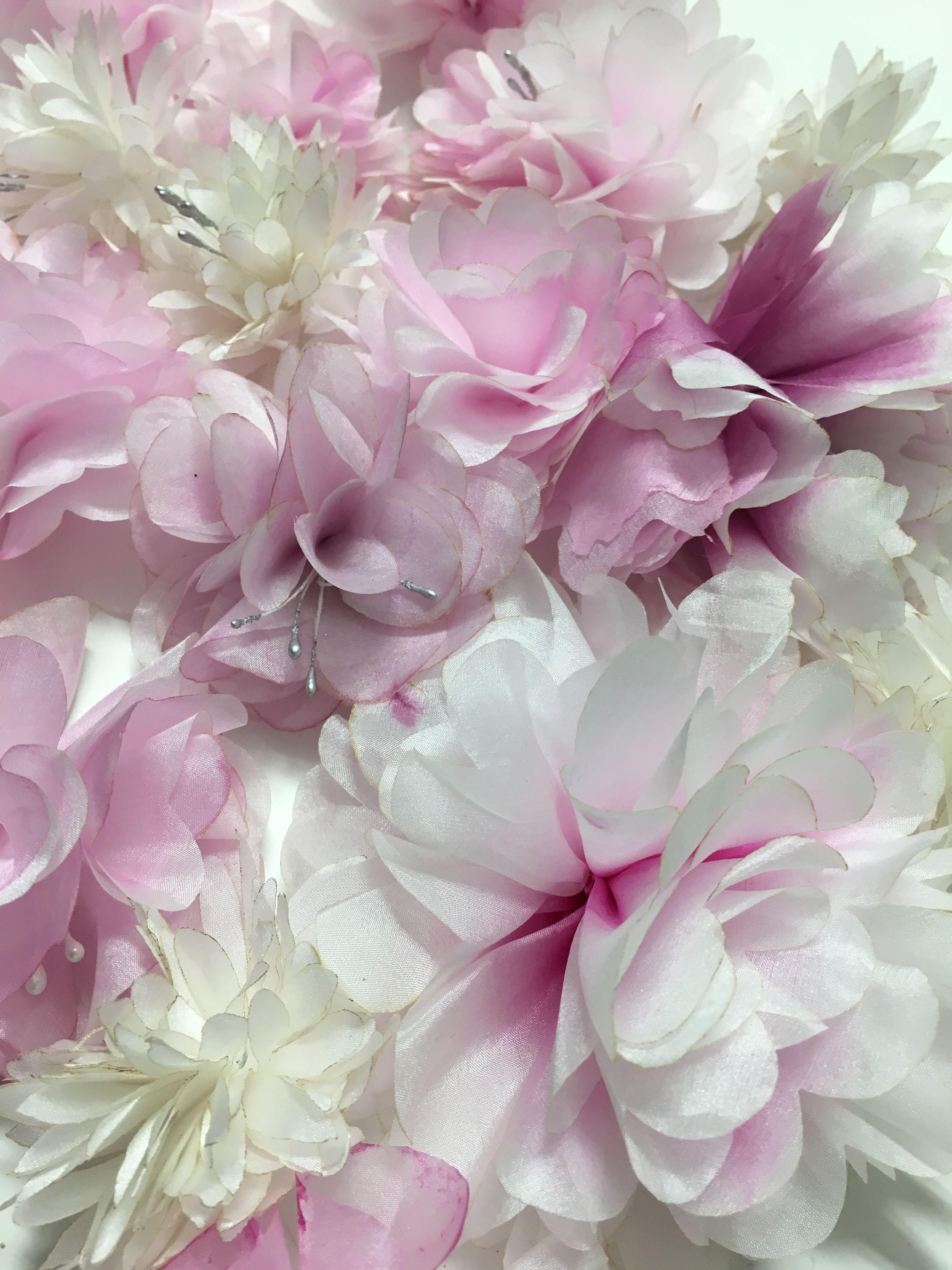 Laser Cut And Hand Painted Silk Flowers Fleurs De Soie Silk
