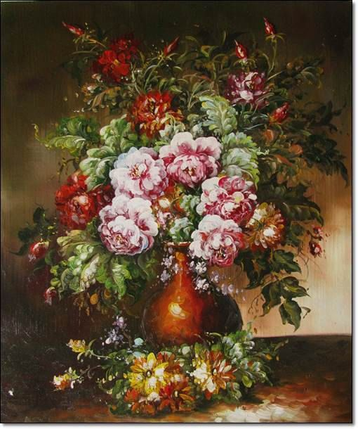 Classic Flowers Oil Painting On Canvas By Likiartgallery Oil Painting Flowers Oil Painting On Canvas Flowers