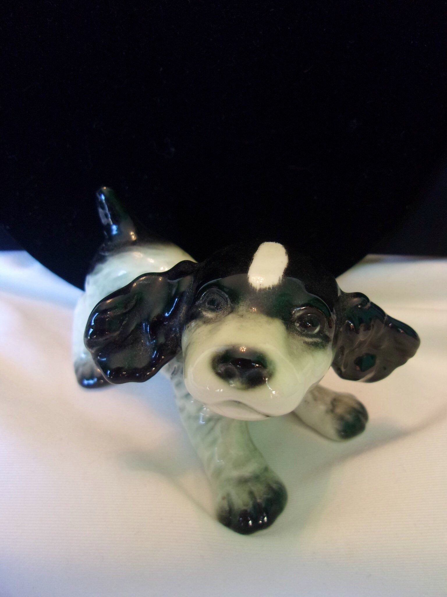 Goebel Cocker Spaniel Puppy Dog Bone China Porcelain Figurine West