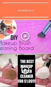 Photo of DIY : Makeup Brush Cleaning Board  Makeup Brush Cleaner #diy #makeup make up br#…