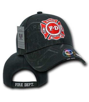 FIRE DEPARTMENT HAT NAVYBLUE WITH SHADOW BASEBALL STYLE CAP
