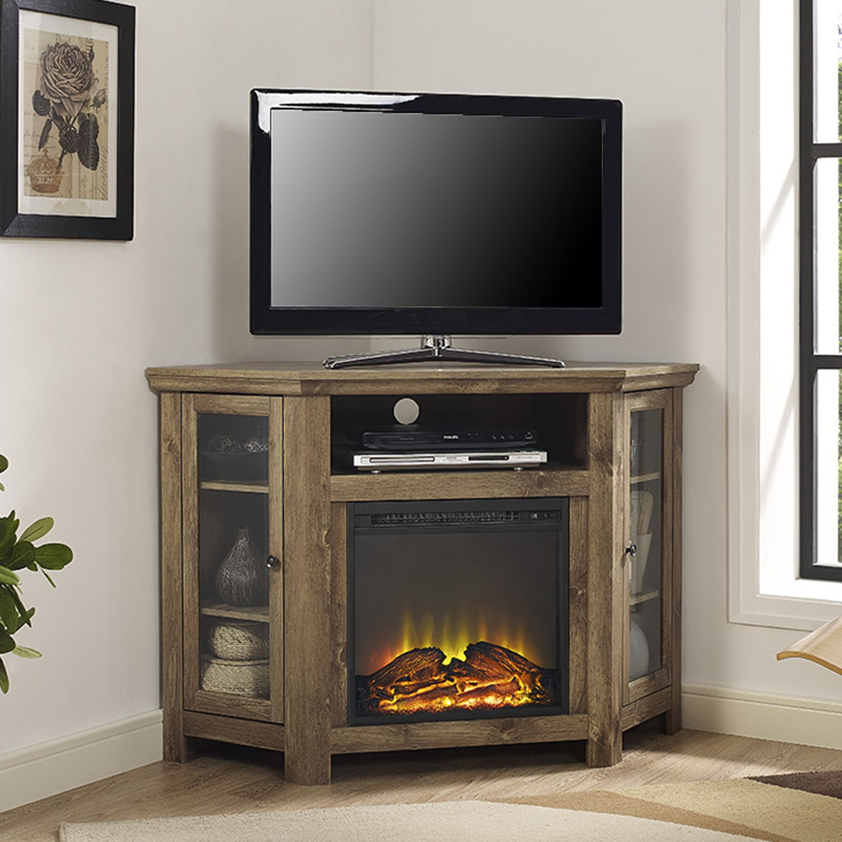 Corner Tv Stand With Electric Fireplace Corner Fireplace Tv Stand Fireplace Tv Stand Living Room Tv Stand