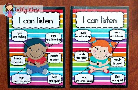Reglas de la Escuela Dominical GRATIS cuerpo entero Escuchar Posters