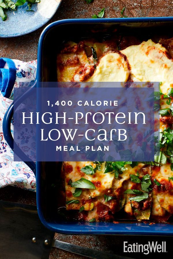 1,400-Calorie High-Protein Low-Carb Meal Plan | Low carb ...