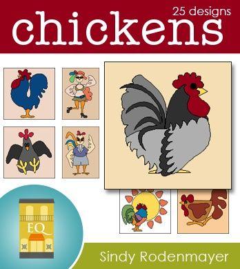 Free Chicken Applique Patterns Chickens 25 Chicken Applique