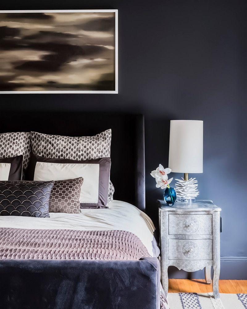 moody bedroom design This Moody Cambridge Home