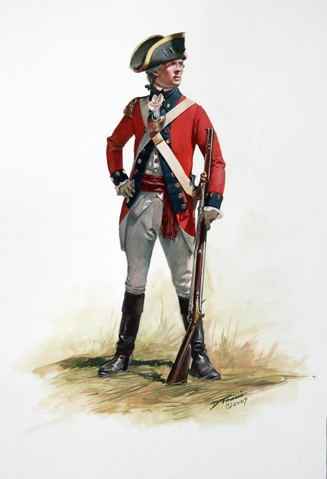 comparing the differences between the british soldiers and american soldiers during the american rev