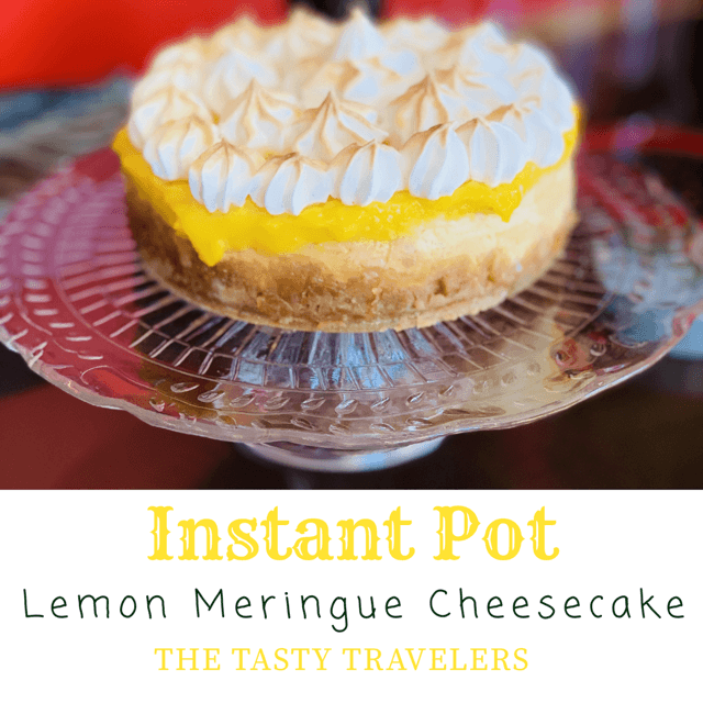 Lemon Meringue Cheesecake-Instant Pot Recipe #lemonmeringuecheesecake