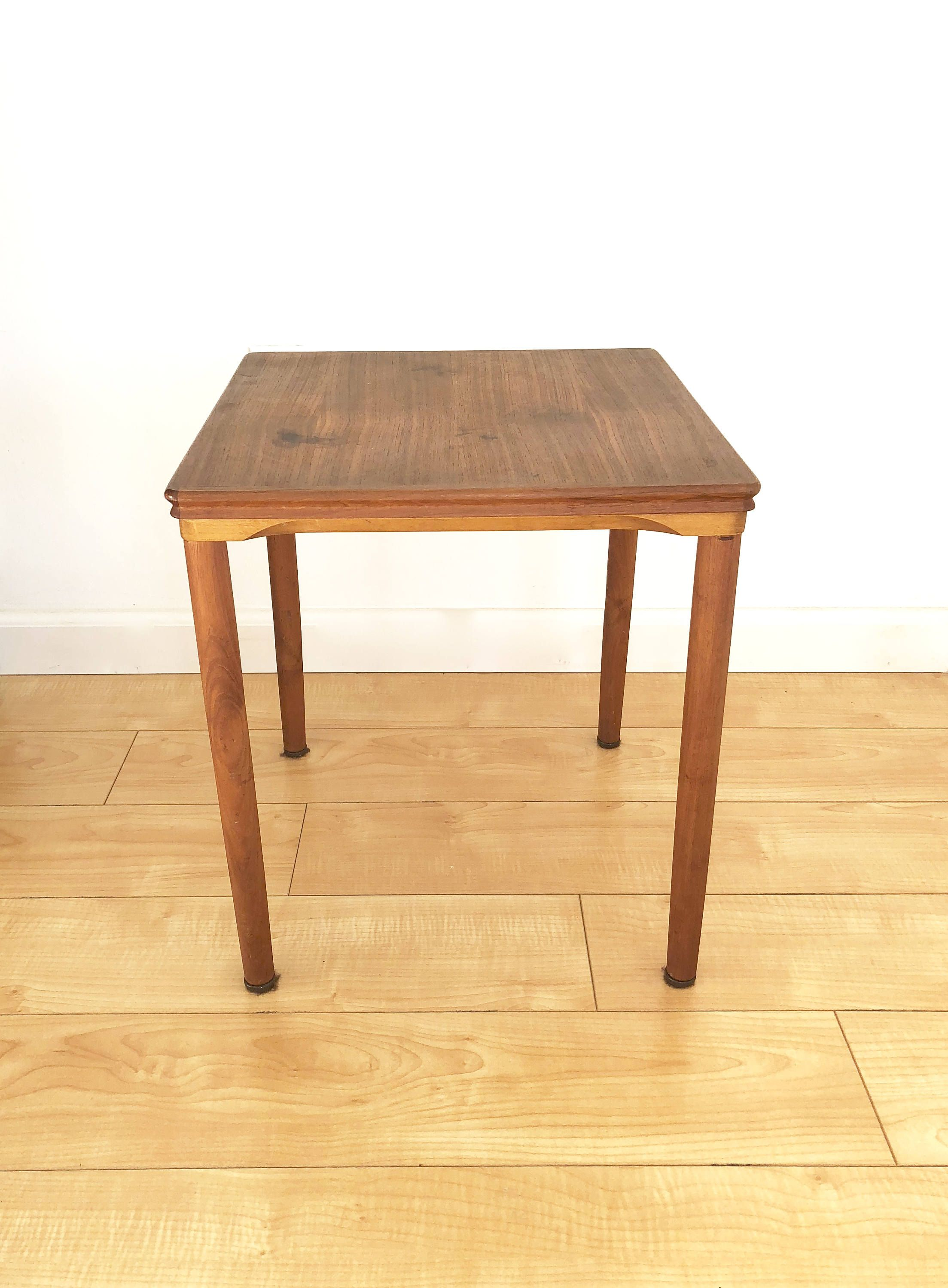 Teak Mid-Century Modern Table by Mobelfabrikken Toften of Denmark by ProvinceShop on Etsy