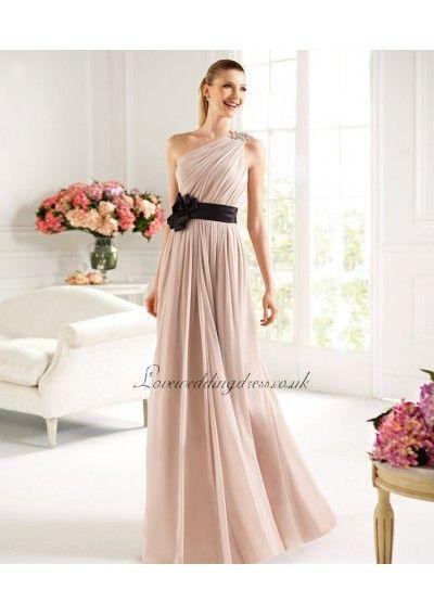 2013 New Chiffon One Shoulder Floor Length Prom Dress Online Sale – Prom Dresses – Wedding Dresses Shop | phowi