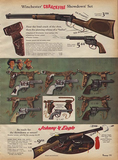 Toy Cap Guns Amp Rifles In J C Penney S Christmas Catalog
