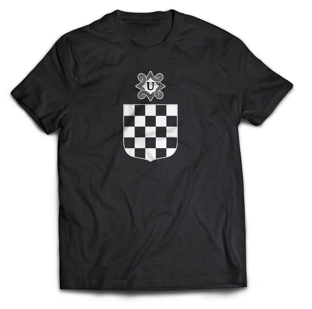T-SHIRT NDH Ustascha Wappen, Black Schwarz, Ustasa Grb, Ante Pavelic, Hrvatska