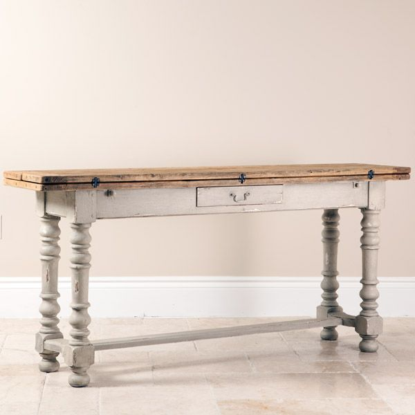 Distressed Wood Sofa Table | Shabby Chic Sofa Table