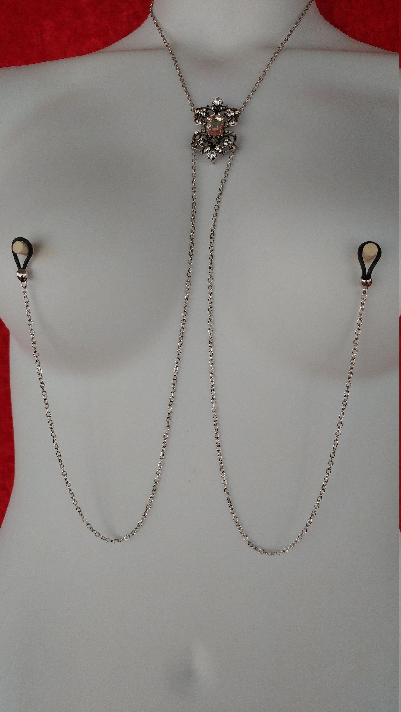 Nipple Jewelry Necklace -piercing Pierced Painless