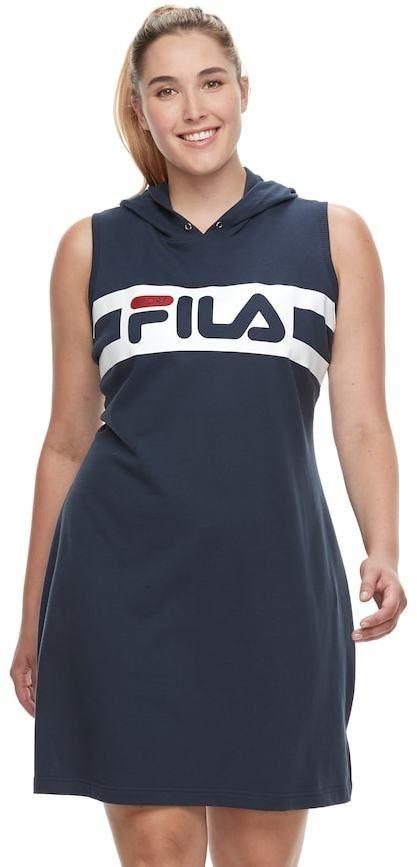 meer foto's nieuwe afbeeldingen van uk goedkope verkoop Plus Size FILA SPORT® Hoodie Dress   Products   Sports ...
