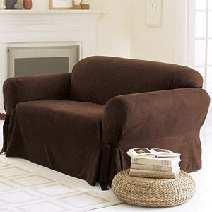 Excellent Sure Fit Soft Suede Sofa Cover For The Home Suede Sofa Lamtechconsult Wood Chair Design Ideas Lamtechconsultcom
